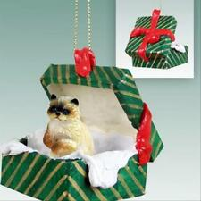 Ragdoll CAT Green Gift Box Holiday Christmas ORNAMENT
