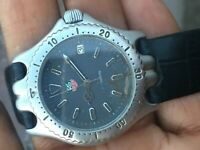 Tag Heuer S99.213M Quartz Watch Date midsize Rare  grey dial diver 200m watch