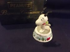 Dept. 56 Peanuts Snoopy Skating Pond Jeweled Box - New