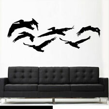 Wall Vinyl Sticker Feather Decal Birds Flock (Z3012)