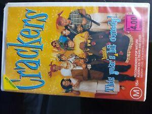 CRACKERS rare Australian VHS Video Aussie comedy movie classic Oz- free postage