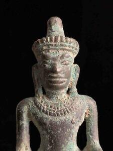 Ancient 700 year old Khmer bronze Vishnu SE Asia 12-13th c