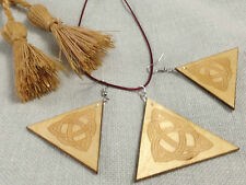 Wooden jewelry set,Celtic knot,boho stile jewel,earrings and necklace pendant.
