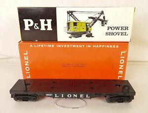 LIONEL POSTWAR #6827 HIGH GRADE HARNISCHFEGER POWER SHOVEL CAR-MINT IN OB'S!