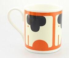 Orla Kiely Bone China Mug - Persimmon Orange Elephant design. Tea/Coffee cup