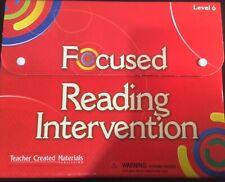 Focused Reading Intervention Level 6 Kit Teacher Created Materials