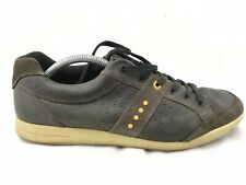 Ecco Mens 44 Eu 10 Us Brown Leather Biom Natural Motion Soft Spike Golf Shoes