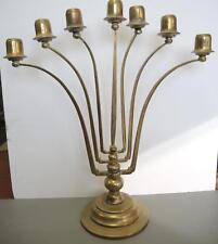 Early 2oth Century Jugendstil Brass Seven Light Candelabra