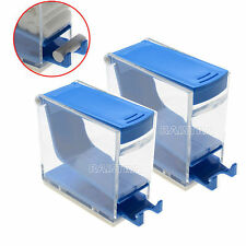 2pc Dental  Dentist Cotton Roll Dispenser Holder Press Type Blue Color Pro