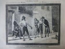 1876 Ji Fechten Duell Premiere Affaire Wandbild V H Juglar Nr. 4