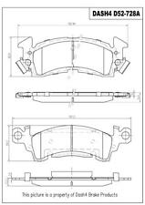 Front Ceramic Brake Pads CD52 Dash 4 Brake
