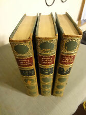 1900 Boswell's Life of Samuel Johnson 3 Vol Complete Book Set Green Half Leather