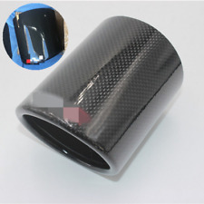 "1x Carbon Fiber 4"" Outlet Car Exhaust Tip Shell Cover Sleeve Muffler Pipe Shroud"