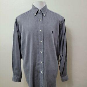 RALPH LAUREN YARMOUTH COTTON LONG SLEEVE DRESS SHIRT SIZE 15.5-34