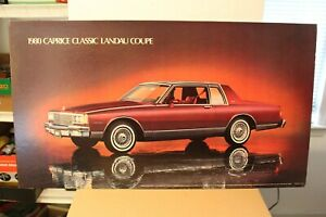 1980 CHEVROLET CAPRICE CLASSIC LANDAU COUPE DEALERSHIP PROMOTIONAL WALL POSTER