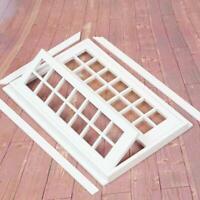 New DIY Scale Dolls House Miniature White wooden Double Doors European Y6L1