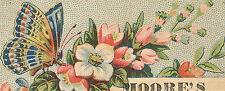 BALTIMORE MD TRADE CARD, DR. MOORE'S PHARMACY, 131 LEXINGTON ST ~ COLOGNE  TTC31