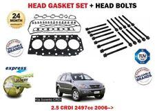 FOR KIA SORENTO 2.5 CRDI D4BC 2006 >NEW HEAD GASKET SET + HEAD BOLTS KIT