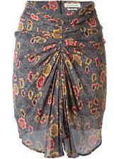 Isabel Marant Étoile Sevan Slavic Floral Poppy Print Ruched Skirt FR 36