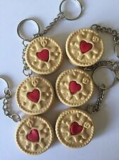 Jammy Dodger Keyring Novelty Gift Food humour bag charm Christmas gift present