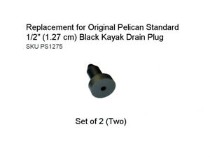 "Replacement for Original Pelican Standard 1/2"" (1.27 cm) Black Kayak Drain Plug"