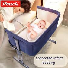 Baby Portable Bed Connected With Parents Bed Travel Breathable Folding Crib