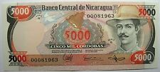 - Très beau billet - NICARAGUA - 5000 Cordobas - 1985 - Neuf -