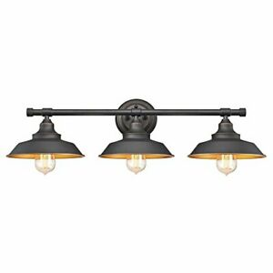 Westinghouse 6344900 Iron Hill Three-Light Indoor Wall Fixture,Oil Rubbed Bronze