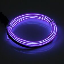 1M 12V Purple EL Wire Car Auto Interior Strip Cold light Tape +Cigarette Lighter