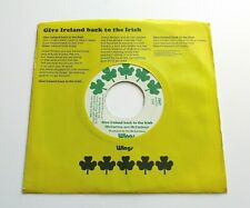 "Wings - Give Ireland Back To The Irish 1972 USA Apple 7"" Single P/S"