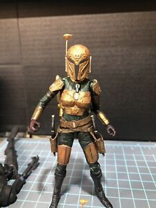star wars black series mandalorian female armor 6inch 1/12 scale. UNPAINTED