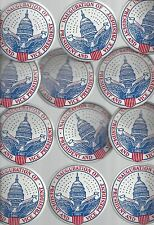 "1965 INAUGURATION OF LBJ JOHNSON & HUMPHREY 3 1/2"" CELLO POLITICAL BUTTONS - 12"