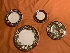 Sakura Splendor Burgundy Lot 16 Item Lot Serving For Four Holidays