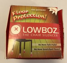Lowboz Ultimate Floor Protection Chair Silencer Brown Easy Install Made In USA