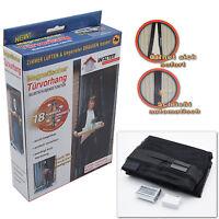 Insektenschutz Tür Türvorhang 210x100 Magnetisch Fliegengitter schwarz Magnet