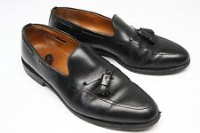 Allen Edmonds Grayson Tassel Loafers 10 C Black Leather Slip On Shoes For Repair