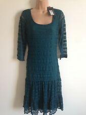 Ladies Green Laced Party Dress By Per Una, U.K. 10, New