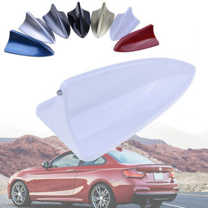 1pcs Shark Fin Roof fit for BMW AUDI Dummy Antenna Aerials Car Decor  White