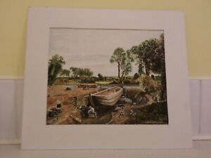 LOVELY WATERCOLOUR  PAINTING SIGNED BY C.R.NICHOLSON  (11 INCHES BY 9 INCHES)