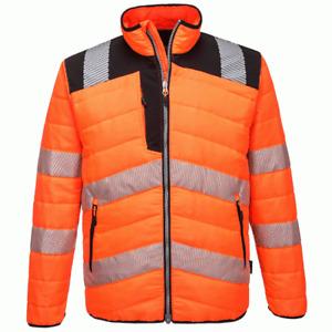 Portwest PW371 PW3 Water Resistant Hi-Vis Baffle Work Jacket - NEW