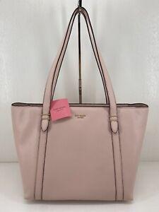 Kate Spade Oakwood Street Chandra Tote Shoulder Bag Pebble Rose Smoke $328 NWT