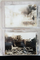 US Lot of 23 Early 20th Century Flood Disaster Photograph Cards