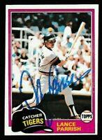 1981 Topps Lance Parrish Autographed Card - Detroit Tigers TTM - #392