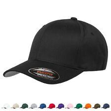 Flexfit Unisex-Erwachsene Wooly Combed Baseball Cap - Schwarz, L/XL (6277)