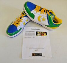 Converse Weapon Basketball Green Africa 14 DWAYNE WADE Personal Shoes w COA #1