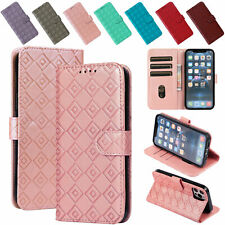 Grid Pattern Leather Flip Holder Phone Case For Samsung Galaxy Note 9 10 S20 S21