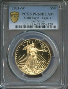 2021-W $50 American Proof Gold Eagle Type 1 PR69DCAM First Strike PCGS Coin