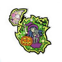 Witch Magnet for Refrigerator, Car Bumper, Office