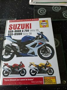 SUZUKI GSXR600,GSXR750 K4,K5, GSXR1000 K3-K8 HAYNES WORKSHOP MANUAL 2003-08 NEW