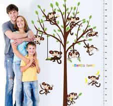 Removable Wall Sticker Kid Height Chart Measure Owl Tree Children Room Nursery